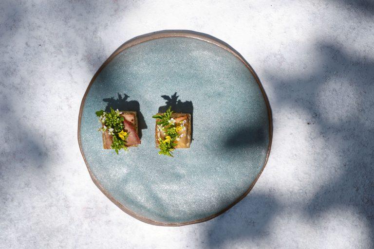 Hiša Franko, Pastrami govejega jezika, jalapeno, kristal alge, divja vodna kreša
